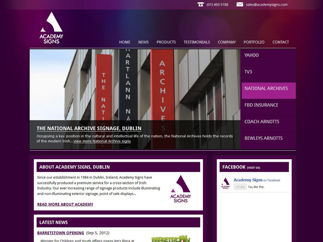 www.academysigns.com screenshot