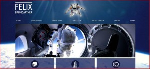 Felix Baumgartner site screenshot